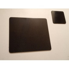 Carbon Fibre Coaster and Placemat set (4 of each)
